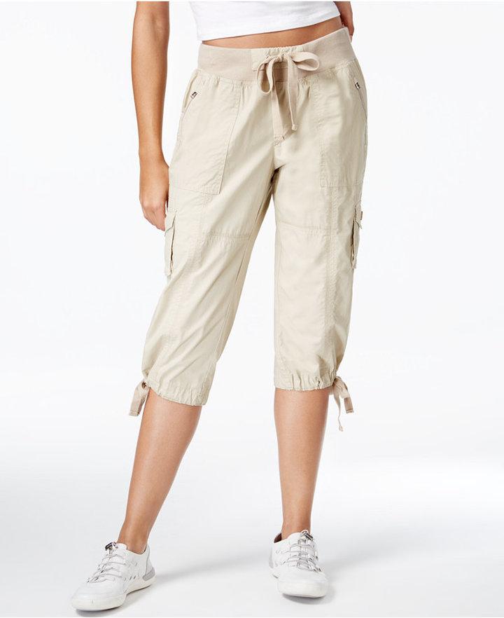 Calvin Klein Performance Convertible Cargo Capri Pants