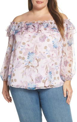 Vince Camuto Poetic Blooms Off the Shoulder Top