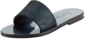 K. Jacques Arezzo Metallic Flat Sandal