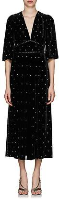 Fendi Women's Studded Velvet Cocktail Dress - Black