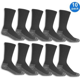 Fruit of the Loom Men's Workgear Crew Socks 10-Pack
