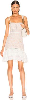 Jonathan Simkhai Multimedia Corded Lace Ruffle Dress in White   FWRD
