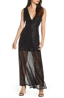 BB Dakota Sequin Mesh Gown