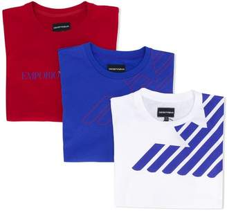 Emporio Armani Kids set of three T-shirts