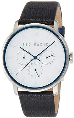 Ted Baker Men's 'Classic' Quartz Stainless Steel and Leather Dress Watch