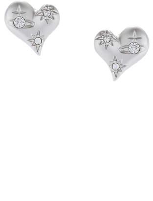 Vivienne Westwood Alice Heart Earrings Silver Tone