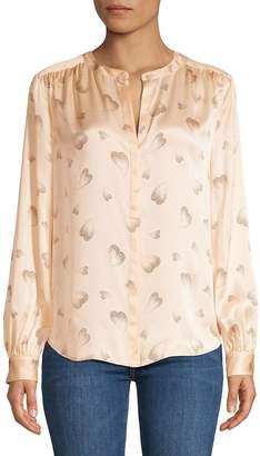Joie Printed Long Sleeve Blouse