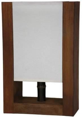 Oriental Furniture Simple Classic Elegant Lighting, 15-Inch Zen Japanese Design Modern Decorative Desk Lamp