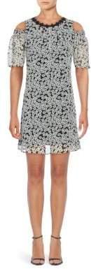 Taylor Floral Cold-Shoulder Dress