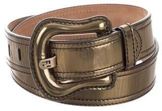 Fendi Metallic Leather Waist Belt Metallic Metallic Leather Waist Belt