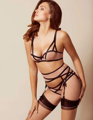 Agent Provocateur Joan Suspender Nude And Black