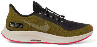 Nike Running - Air Zoom Pegasus 35 Shield Water-Repellent Sneakers - Men - Army green