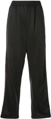 Balenciaga stripe tracksuit logo pants