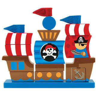 Stephen Joseph Pirate Wooden Stacking Set