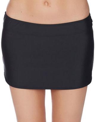 Athena Cabana Solids A-Line Swim Skirt $58 thestylecure.com