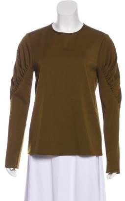 Tibi Long Sleeve Crew Neck Top w/ Tags
