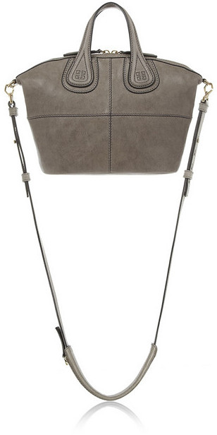 Givenchy Micro Nightingale bag in gray leather