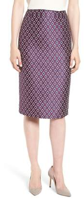 BOSS Varines Jacquard Pencil Skirt