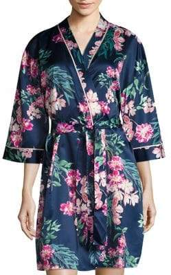 Saks Fifth Avenue Satin Floral Robe