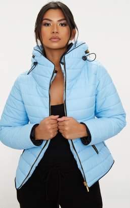 PrettyLittleThing Mara Baby Blue Puffer Jacket