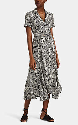 A.L.C. Women's Clarkson Snake-Print Silk Shirtdress - Nudeflesh