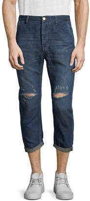 One Teaspoon Mr. Browns Distressed Cropped Jean
