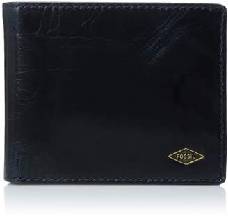 Fossil Men's Ward Leather Rfid Blocking Bifold With Flip Id Wallet