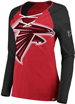 Majestic Women's Atlanta Falcons The Lace Up Tee