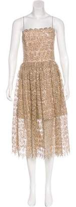 Alice + Olivia Lace Evening Dress