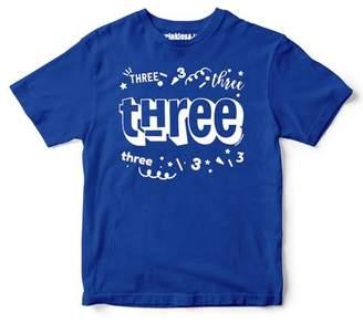 Sprinkles And Jam Three Confetti Style Boys 2nd Birthday Boy Shirt Slim Fit