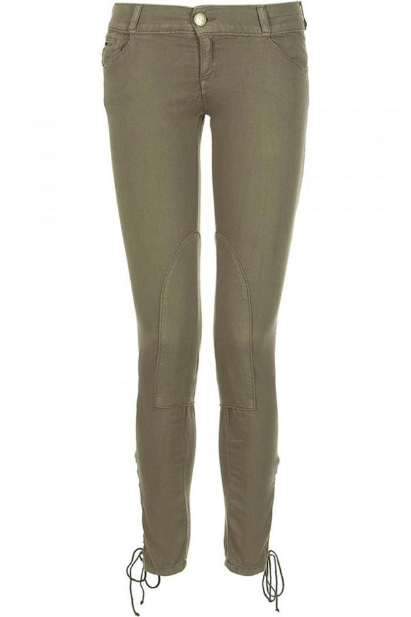 Current Elliott Dark Olive The Lace Up Jodpur Legging