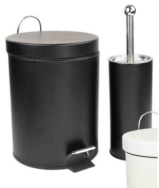 Home Basics 2-Piece Toilet Brush and Trash Can Set