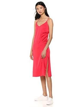 A.N.A The Drop Women's Silky V-Neck Midi Slip Dress