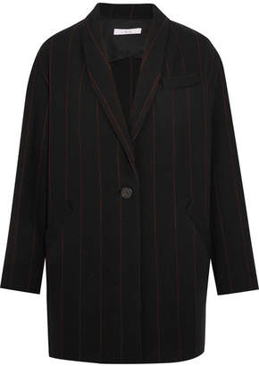 IRO Pinstriped Wool-blend Felt Blazer - Black