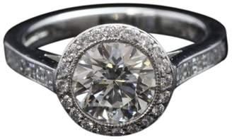 Tiffany & Co. Platinum 2.27ct Diamond Engagement Bead Set Ring Size 6.0
