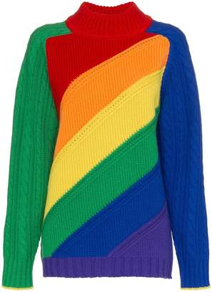 Burberry rainbow turtleneck jumper