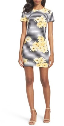 Women's French Connection Sunflower Stripe Sheath Dress $98 thestylecure.com