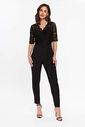 Wallis Black Lace Top Jumpsuit