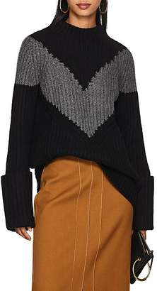 Derek Lam Women's Chevron-Striped Cashmere Sweater
