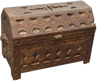 One Kings Lane Vintage Handmade Berber Wood Chest with Handles