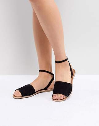 New Look Wide Strap Suede Flat Sandal