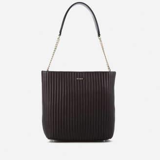 DKNY Women's Pinstripe Quilted Shopper Bag - Black