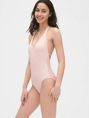 Gap Ribbed Halter One-Piece Suit