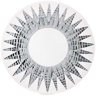 One Kings Lane Mosaic Round Mirror - White/Silver