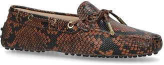 J.P Tods Snake Print Driving Shoes