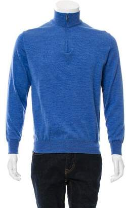 Canali Woven Zip-Up Sweater