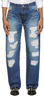 Junya Watanabe Indigo Lace Patchwork Jeans
