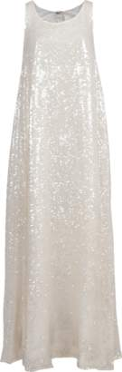 ADAM by Adam Lippes Sequined Embroidered Knot Gown