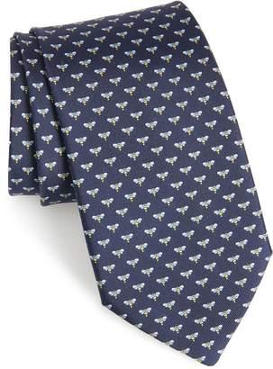 Salvatore Ferragamo Falena Print Silk Tie