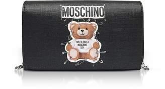 Moschino Teddy Bear Black Wallet Clutch